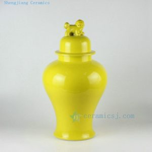 "RYKB115 20"" Solid color ceramic ginger jars with dog lid"