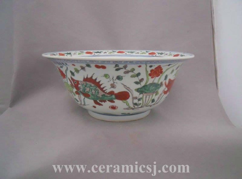 Qing dynasty big famille rose bowl WRYPL11