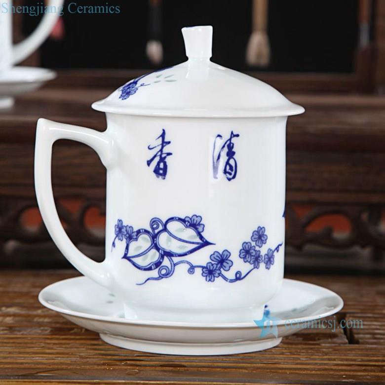 Cbaf01 10 10 Design Jingdezhen Blue And White Rice Pattern