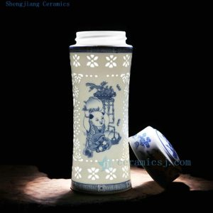 CBAJ01 Jingdezhen Ceramic vacuum cup gift box available
