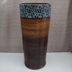 RYXW012 Engraving floral design Ceramic Pedestal Lavatory Basin