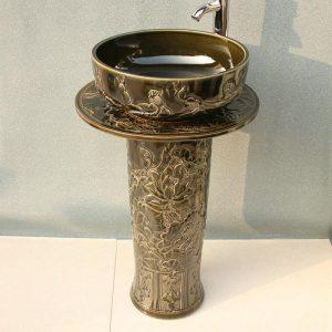 RYXW032 Ceramic Pedestal Lavatory Sink