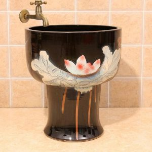Beautiful ceramic wash mop sink easy to clean