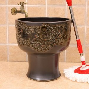 12 designs Ceramic mops washbasins