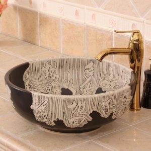 YL-R_5746 Solid color silver gilded glaze corner bathroom ...