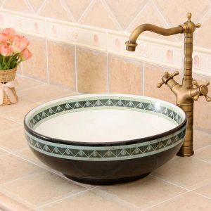 RYXW313 Jingdezhen Ceramic Bathroom Sink