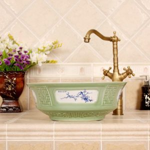 RYXW314 Jingdezhen Ceramic Bathroom Sink