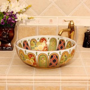 Jingdezhen Ceramic sanitary ware china colored wash basin