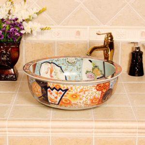 RYXW347 Jingdezhen Ceramic colored decorative sink bowls