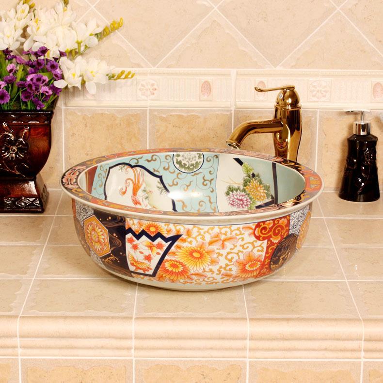 ryxw347 jingdezhen ceramic colored decorative sink bowls jingdezhen shengjiang ceramic co