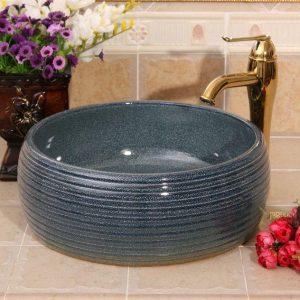 RYXW456 Color glazed Ceramic hand wash basin