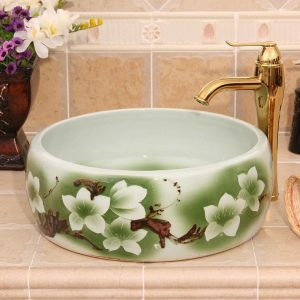 5 different flower Ceramic washbasins