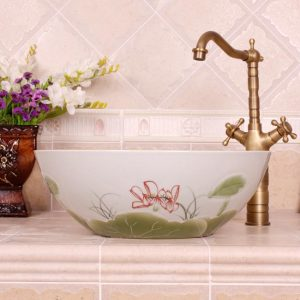 RYXW540 Water lily design bathroom basins