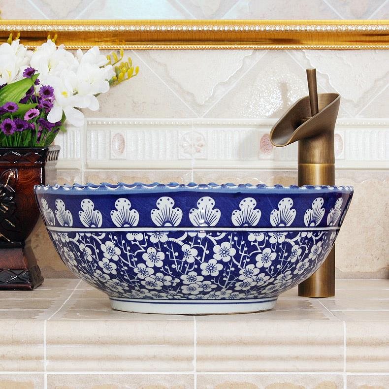 Blue And White Vessel Sink : Basin & Sink Jingdezhen Shengjiang Ceramic Co., Ltd.::jingdezhen ...