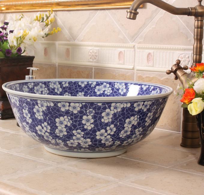Lt X1a4379 Jingdezhen Art Ceramic Wash Basin Unique