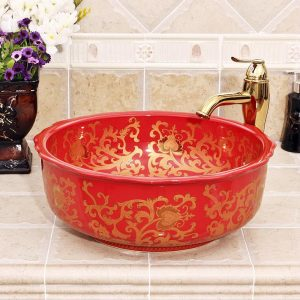 Oval bathroom vessel sink