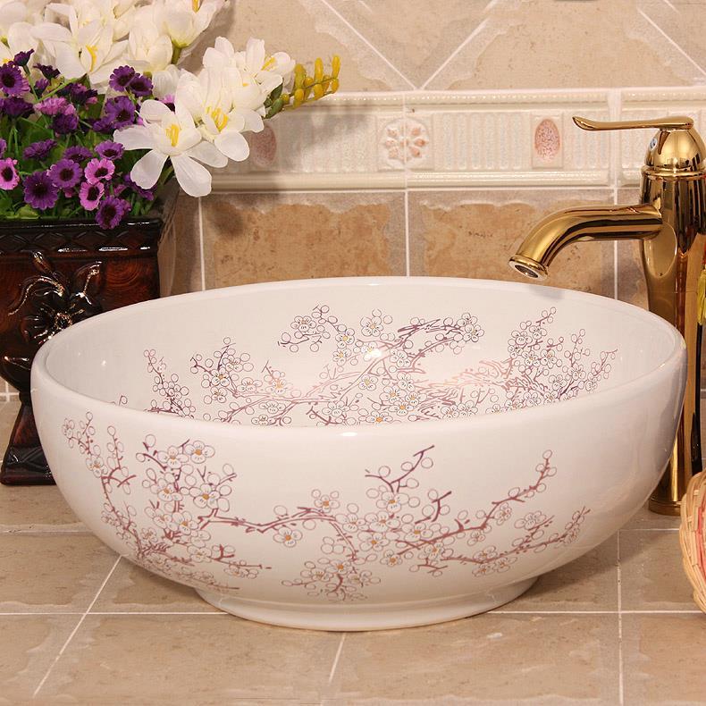 9 Designs Porcelain Vessel Sink Jingdezhen Shengjiang