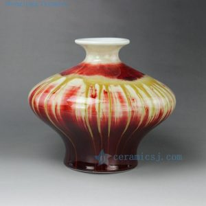 "RZEO01 10"" Jingdezhen porcelain vase transmutation glazed"