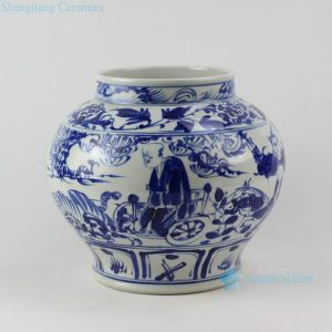 "RZEZ02-F 11"" blue and white Ming reproduction Guigu zi design Porcelain Jars"