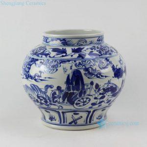 """RZEZ02-F 11"""" blue and white Ming reproduction Guigu zi design Porcelain Jars"""
