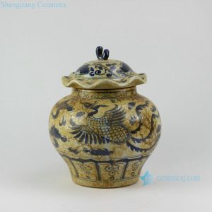 "RZEZ08 11.5"" Antique finished Ming Reproduction blue and white Jars"
