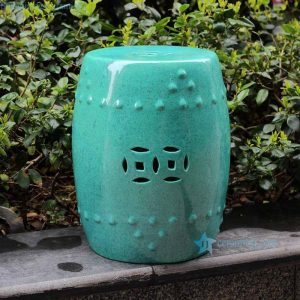 RYDB33 17.7inch Color Glazed Ceramic Garden Stool