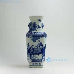 "RYUK17 18"" Play Chess Blue & White Vases"