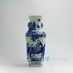 "RYUK17 18"" Play Chess Blue & White Vases"