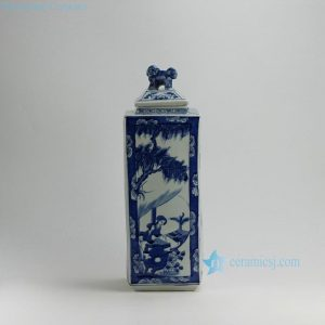 "RYUK20 19"" Women design Blue & White Square Jars"