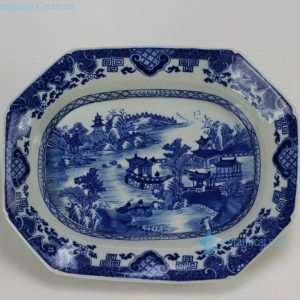 RZDA07 Hand made Blue and White Plate