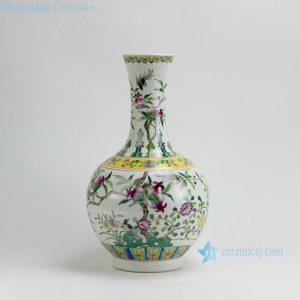 RZFA06 H16.5Inch Jingdezhen hand painted Famille rose pomegrante design porcelain vase