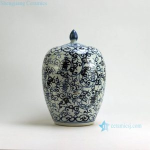 "RZFB01 H14.2"" Jingdezhen Ceramic blue and white jars long life design"