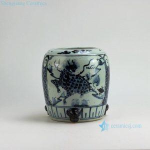 """RZFB03 H9.2"""" Jingdezhen blue and white vases burner"""
