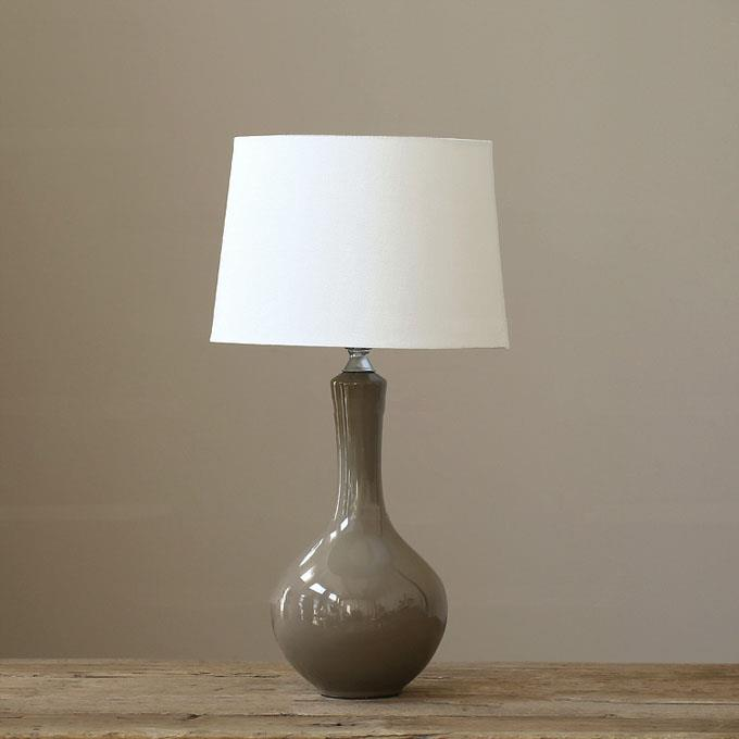 Simple Style Warm Gray Ceramic Table Lamp