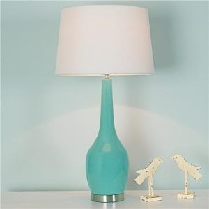 Light blue contemporary table lamps