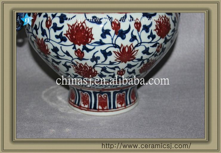 blue and white antique ceramic teapot RYVK07