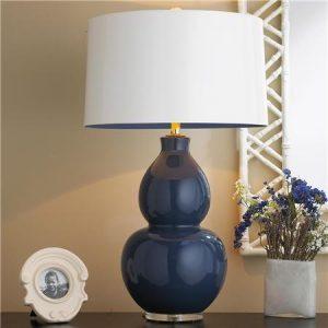 Ceramic modern navy blue table lamps