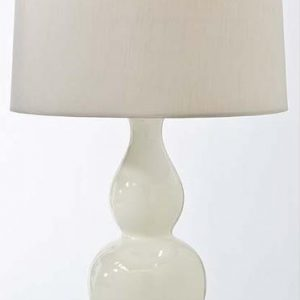 Traditional gourd white table lamps