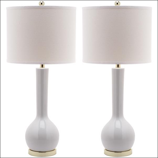 White Ceramic Table Lamp Base