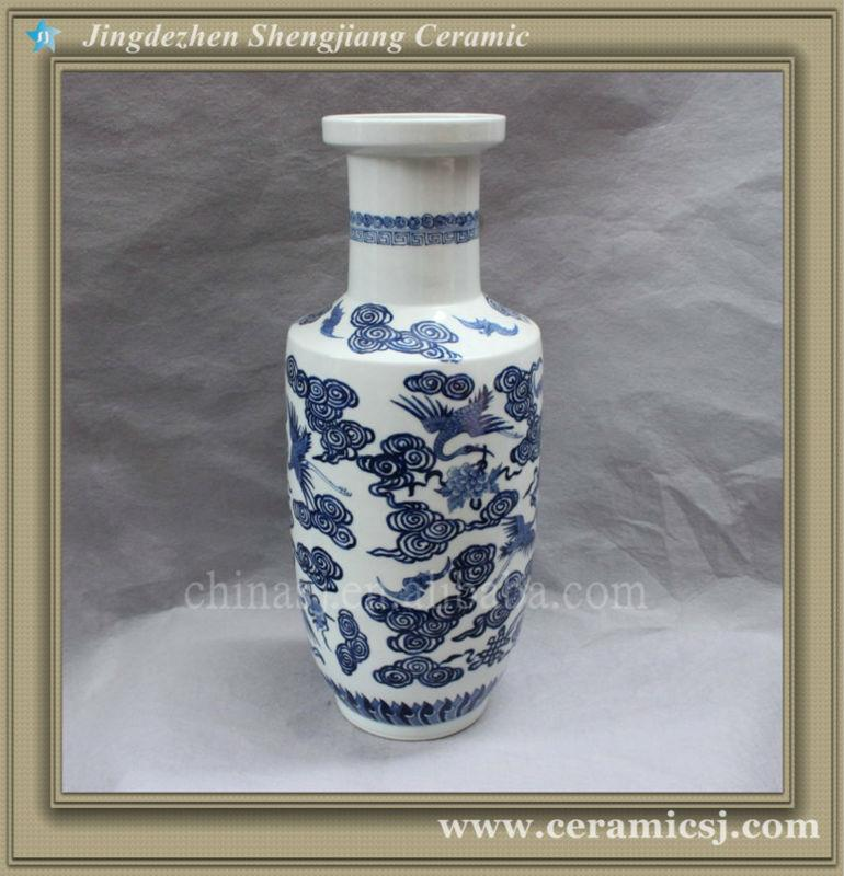blue and white ceramic for stairs vase RYVX08