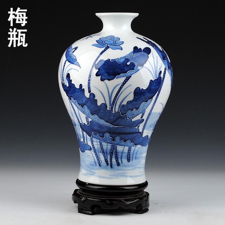 Blue Amp White Lotus And Fish Ceramic Vases Jingdezhen
