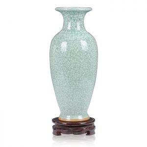 "C11-1 H13.4"" Crackle Jun Porcelain Vases"