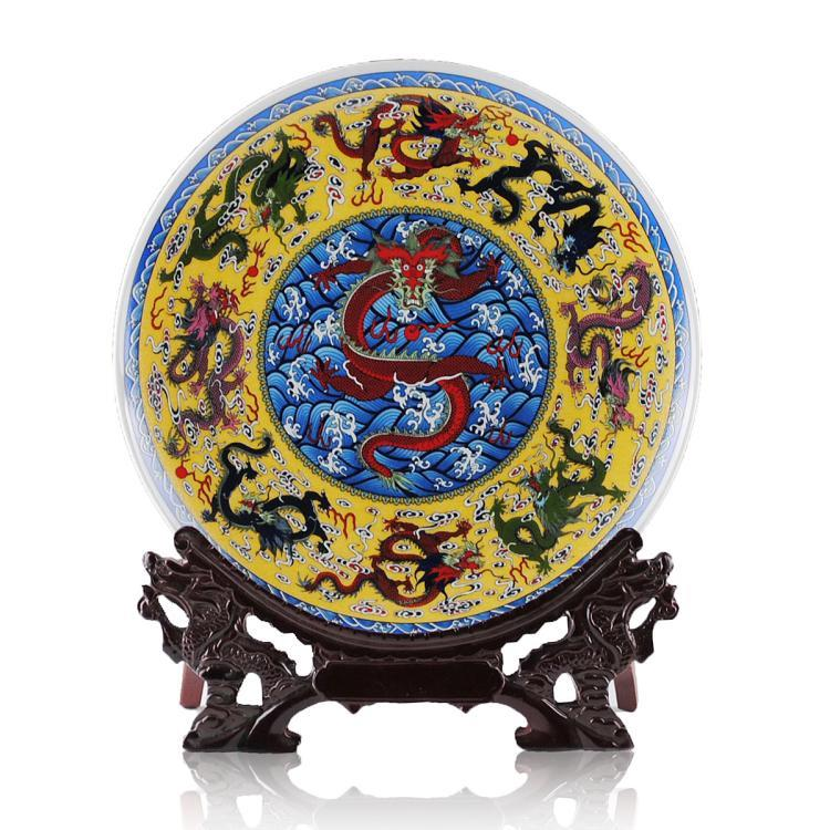 Traditional Chinese Ceramic Decor Plate Jingdezhen