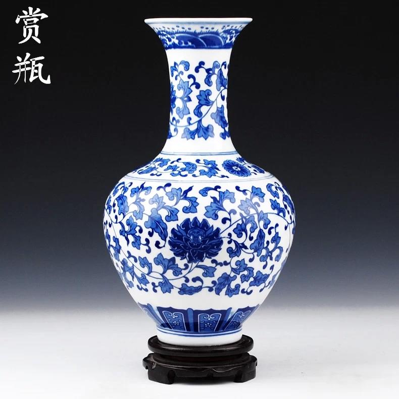 Wholesale Porcelain Blue And White Vases Jingdezhen Shengjiang
