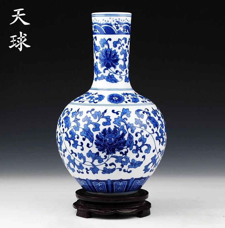 Wholesale Porcelain Blue And White Vases Jingdezhen Shengjiang Ceramic Co Ltd Jingdezhen