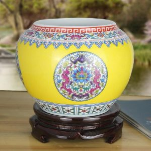 Colorful Chinese Floral design Ceramic Vases