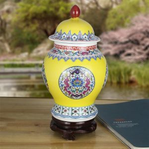 Colorful Ceramic Ginger Jars
