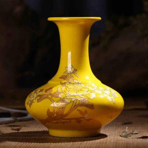 Yellow glazed Flower Vases