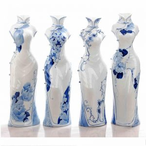 China Ceramic Cheongsam Figurine