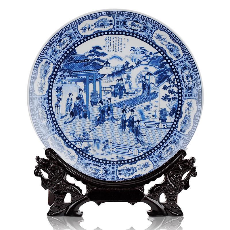 C58 10inch Wholesale Decor Ceramic Plates Jingdezhen
